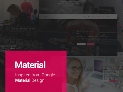 Material material google design wordpress theme portfolio agency