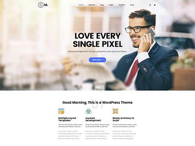 New Moring - Creative Business WordPress Theme page web business creative theme wordpress