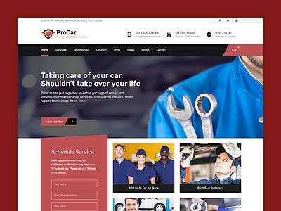PROCar - Car Service & Workshop WordPress Theme automobile car theme wordpress