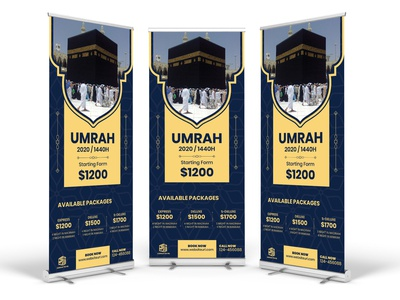 Hajj Umrah Promotional Roll Up Banner
