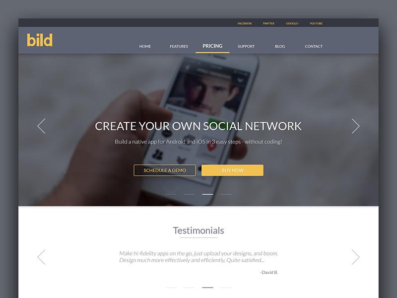 bild - create ur own app by RainArtistic | Dribbble | Dribbble