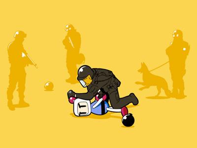 Counter-Terrorists win! counter terrorist tee design illustration bomberman game old bomb t-shirt