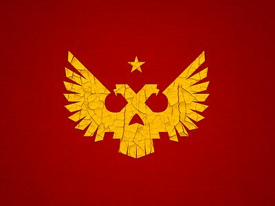 MSK2048 eagle star bird skull logotype logo russia moscow