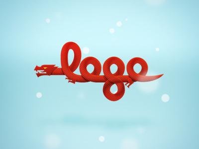 "Dragontype ""Logo"" dragon logo script style red logotype type"
