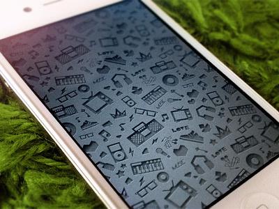 Music Pattern pattern music note sound iphone wallpaper audio black seamless