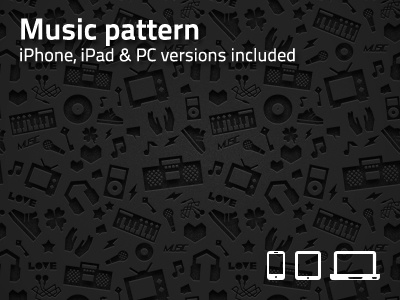 Music pattern wallpaper wallpaper music pattern iphone ipad black