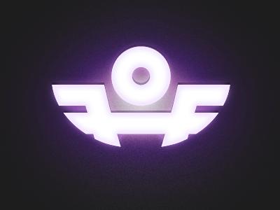 Angel logo angel light logo purple mark music