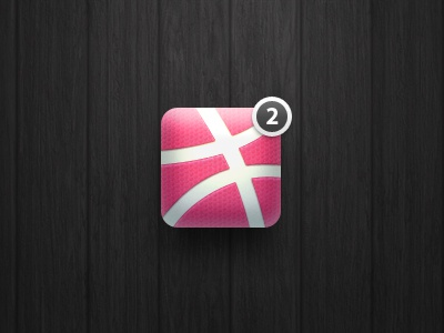 """2 dribbble invites"" icon icon dribbble ball invite ios iphone basketball"