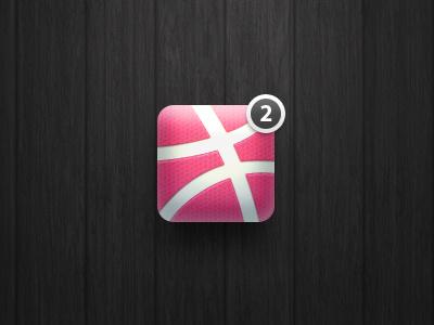 """2 dribbble invites"" icon icon dribbble ball invite ios iphone basketball"
