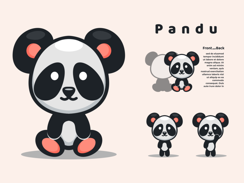 pandu characterdesign panda icon vector logo mascot illustrator illustration design character branding animation