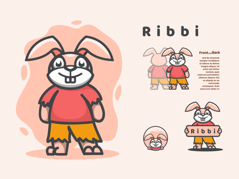 ribi logodesigns logodesigners rabbit characterdesign design vector mascot logo illustration character branding animation