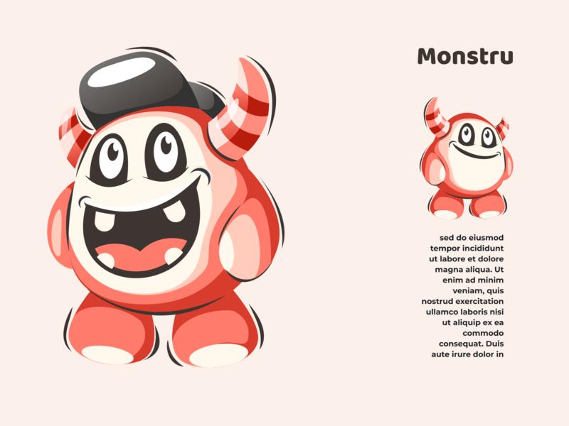 monstru mascot illustrator logodesigners characterdesign vector logo illustration character branding animation