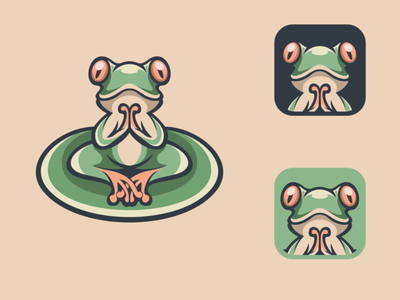 yoga frog yoga frog design illustration esport logodesigners illustrator characterdesign mascot character branding animation