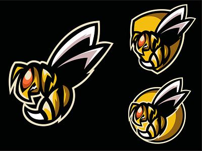 hornet brand esport logo mascot illustrator logodesigners vector animation characterdesign illustration character branding