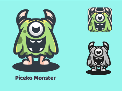 piceko Monster design esport vector illustrator logodesigners mascot characterdesign animation illustration character branding