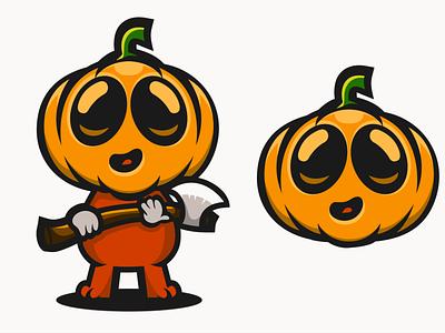 pumpky halloween pumpkin astronaut esport illustrator logodesigners characterdesign animation mascot illustration character branding