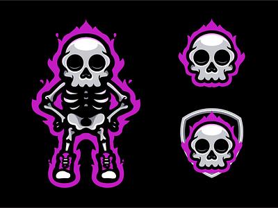 cool skull mascot illustrator design logo logodesigners characterdesign animation illustration character branding