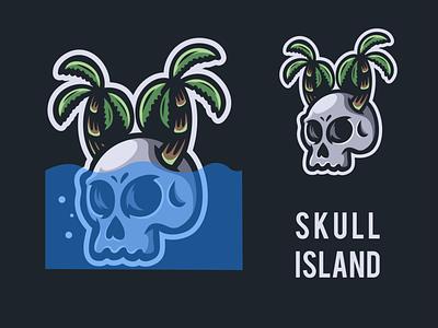 skull island vector logo esport illustration logodesigners characterdesign animation mascot character branding