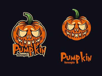 pumpkin esport design characterdesign logo vector logodesigners mascot illustration character branding