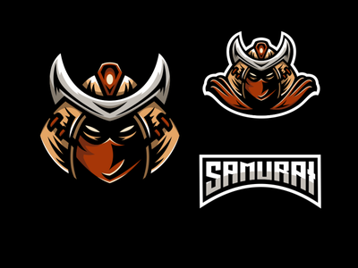 samurai mascot logo vector logo animation illustrator logodesigners characterdesign mascot illustration character branding