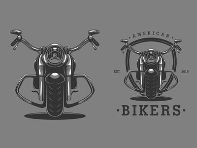American Bikers harley davidson motorcycle biker esport design animation mascot logo logodesigners characterdesign illustration character branding