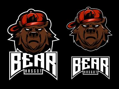 naugty bear illustrator logo logodesigners esport vector mascot characterdesign illustration character branding