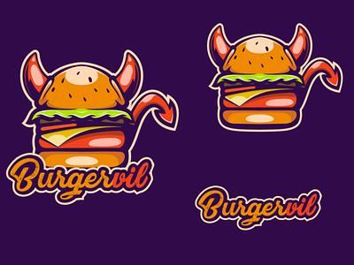 burgervil burger mascot design logo esport vector logodesigners characterdesign illustration character branding