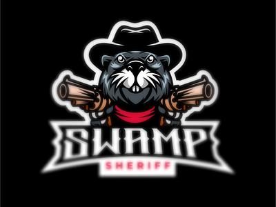 swamp sheriff otter design illustrator characterdesign logo esport logodesigners illustration mascot character branding
