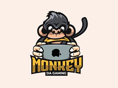 monkey da gaming logo vector animation logodesigners mascot esport characterdesign illustration character branding