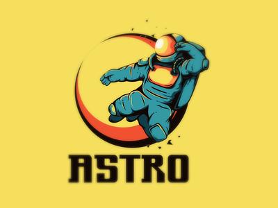 astro astronaut vector branding illustrator logo esport logodesigners mascot characterdesign illustration character