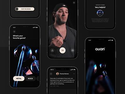 QUAN - minimum awesome product messages iphone app music app 3d design ui app