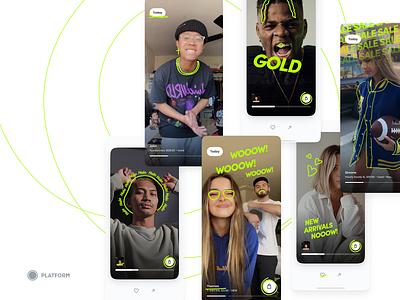 Video Marketplace app design ui iphone fashion app fashion shop
