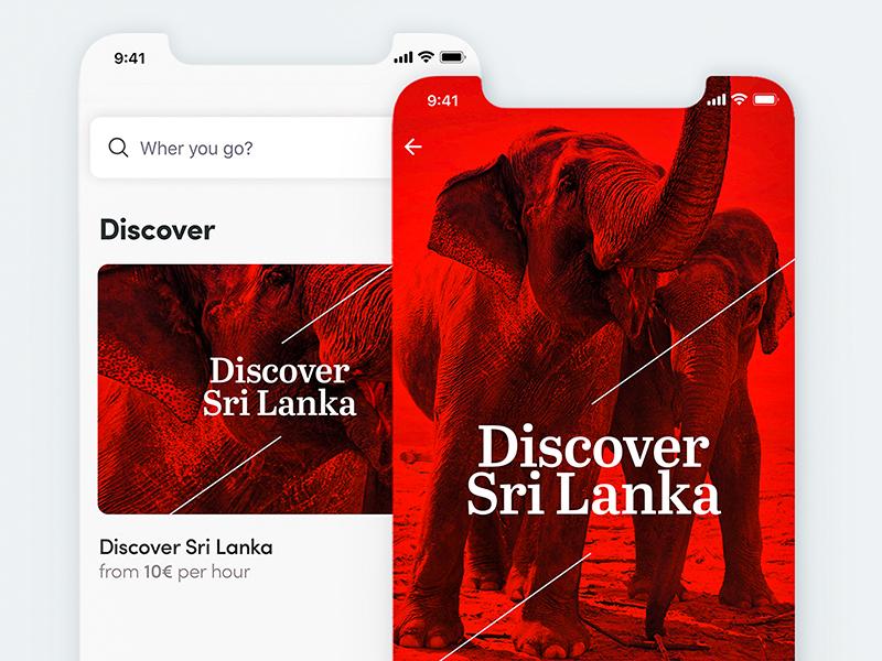 Discover Travel App ios iphone travel app calendar dashboard detail menu product iphone x
