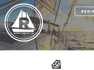 Ruby On Sails proxima nova ruby rails sail boat branding logo icon responsive adaptive button