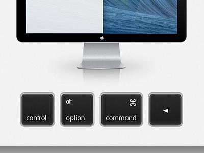 keyboard shortcuts sketch keyboard keys command osx mavericks monitor display reflection glass