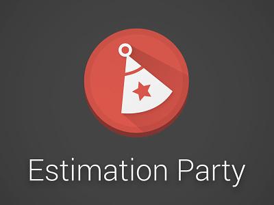 Estimation Party icon google estimation party flat long shadow