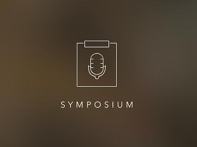 Splash Page ios blur icon mic clipboard line art