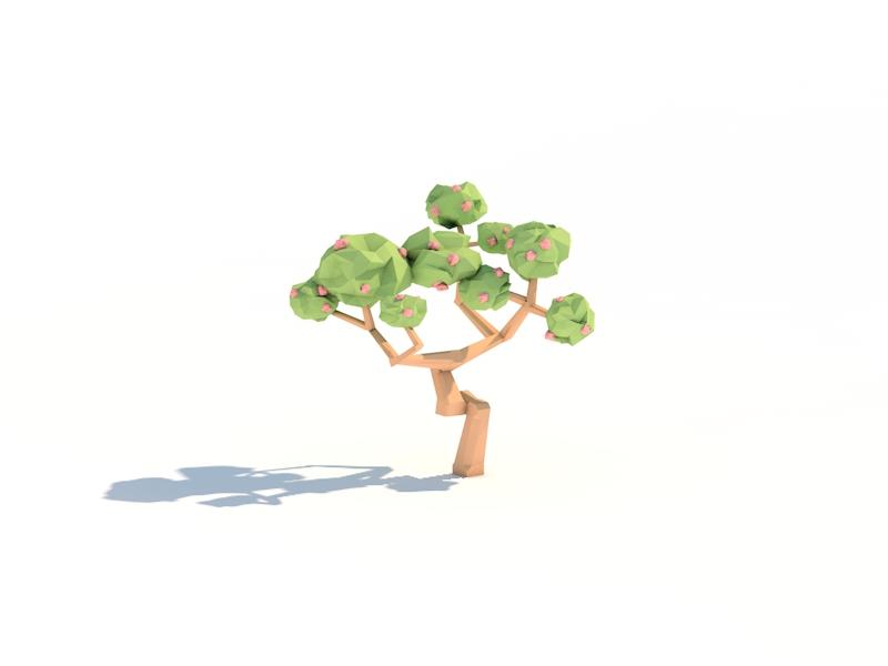 Bonsai Tree pastel shadow japanese flower render c4d tree bonsai