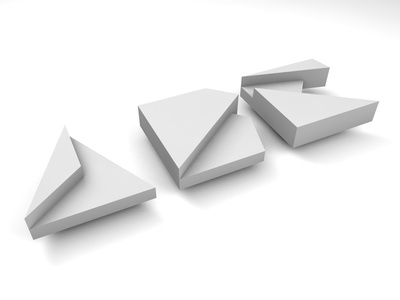 Abc Papercraft 3d lettering poly c4d paper modeling