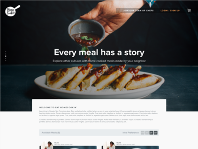 Eat Home Cookin' Web UI nova proxima gallery cart order food ui web