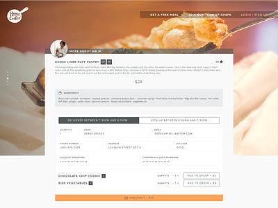 Eat Home Cookin' Checkout checkout nova proxima gallery cart order food ui web
