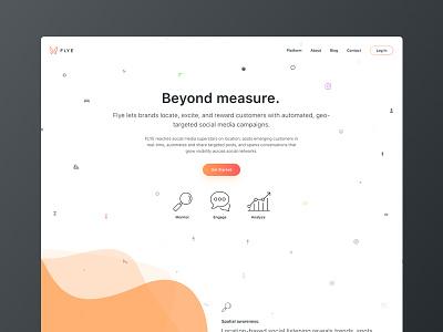 Flye.co marketing product shadow icons gradient ui web