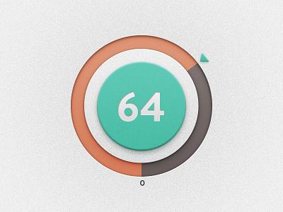 64 ticker ui retro dial progress brandon