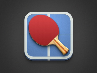 Pong Icon ping pong icon ios wood texture rubber table noise shadow light