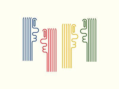 Clique illustration clique form letters experimenting