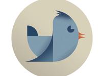 Geometric Twitter Icon