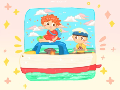Ghibli ponyo fanart pt.1 🐠✨ graphic design dribbble illustration childrens book illustration ghibli artwork art artist design illustrator childrens illustration procreate procreate art drawing fanart