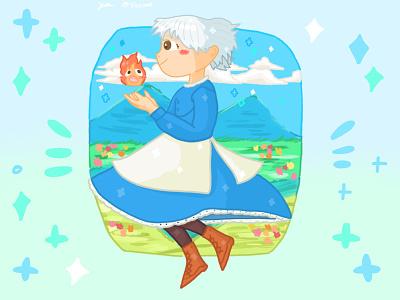 Ghibli Howls New Castle pt.1🔥✨ illustration design dribbble ghibli artwork art artist illustrator childrens book illustration childrens illustration procreate procreate art drawing fanart cute