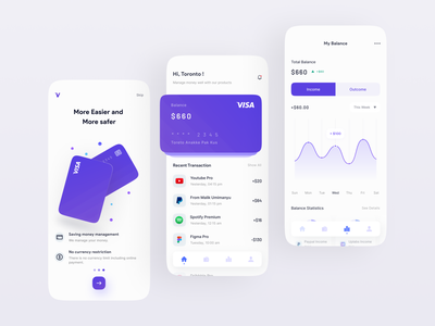 Visz - Finance Mobile Apps futuristic trend detail finances financeapp popular illustration cleandesign finance branding logo ui design freelance freelancer app uiux dribbble