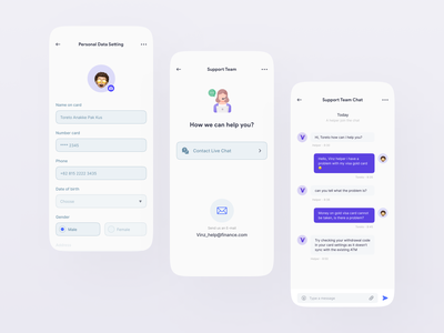 Visz - Finance Mobile Apps - Part 3 debitcard bank finances financial app uidesign popular clean design finance app finance clean clean ui mobile ui design ui freelance freelancer app uiux dribbble